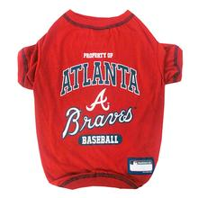Atlanta Braves Dog T-Shirt - Red