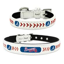Atlanta Braves Leather Dog Collar