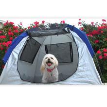 Aussie Instent Haus Dog Tent - Silver