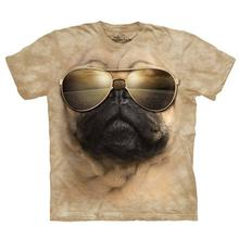 Aviator Pug Human T-Shirt by The Mountain