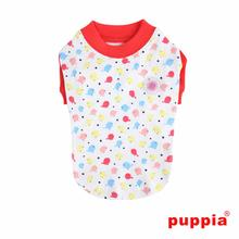 Baby Birds Dog Shirt by Puppia - Orange Red