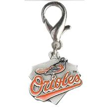 Baltimore Orioles Pennant Dog Collar Charm