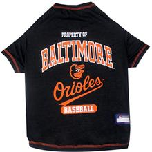 Baltimore Orioles Dog T-Shirt - Black