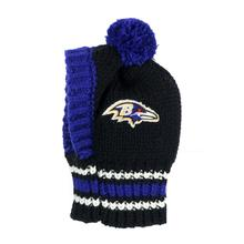 Baltimore Ravens Knit Dog Hat