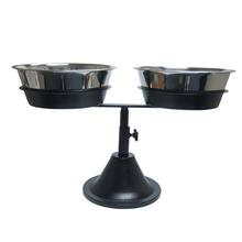 Barstool Adjustable Dog Diner - Double Bowl