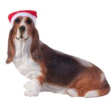 Basset Hound Christmas Ornament - Sitting Profile