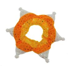 Be Good Candy Corn Jeweled Dog Scrunchy
