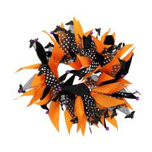 Be Good Orange and Purple Jewel Bat Tips Dog Scrunchy