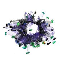 Be Good Purple Polka Dot Spider Dog Scrunchy