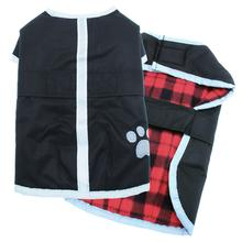Be Good Reversible Nor'Easter Dog Jacket - Black/Red Plaid