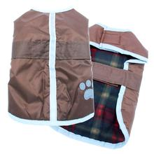 Be Good Reversible Nor'Easter Dog Jacket - Chocolate / Red Plaid