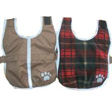 Be Good Reversible Nor'Easter Dog Jacket - Chocolate/Red Plaid