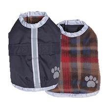 Be Good Reversible Nor'Easter Dog Jacket - Navy/Plaid