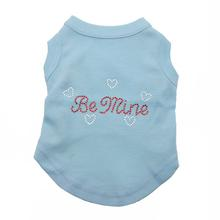 Be Mine Rhinestone Dog Tank - Baby Blue