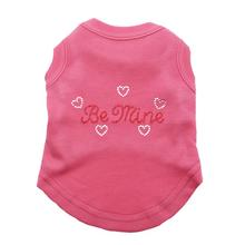 Be Mine Rhinestone Dog Tank - Pink