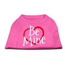 Be Mine Screenprint Dog Tank - Bright Pink