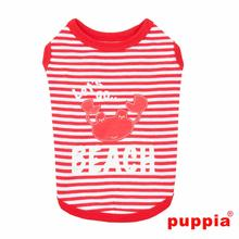 Beach Party Dog Shirt by Puppia - Red