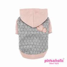 Becca Dog Hoodie by Pinkaholic - Melange Gray
