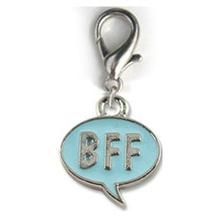 BFF! Dog Collar Charm - Blue