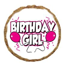 Birthday Girl Dog Treat Cookie