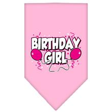 Birthday Girl Screen Print Dog Bandana - Light Pink