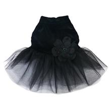 Black Velvet Tulle Dog Dress