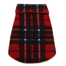 Blanket Plaid Dog Pullover - Red