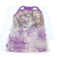 Bling it On Sequin Tank Dog Dress by Oscar Newman - Purple