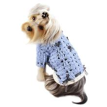 Blue Darling Turtleneck Crocheted Dog Sweater by Klippo