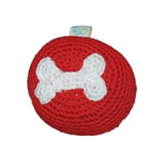Bone Crochet Ball Toy by Dogo - Red