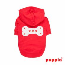 Bonez Hooded Dog Shirt by Puppia - Red