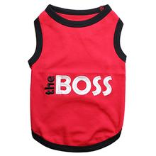 The BOSS Dog Tank - Red with Black Trim