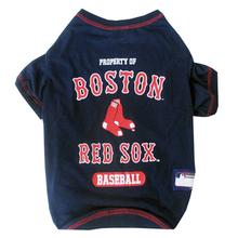 Boston Red Sox Dog T-Shirt - Navy Blue