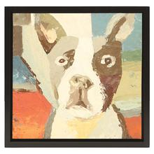 Boston Terrier Oil Painting