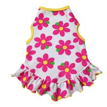 Bright Pink Daisy Dog Dress by I See Spot