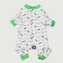 Candy and Bones Dog Pajamas by Petrageous - White and Green