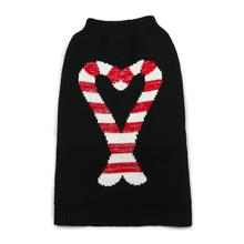 Candy Cane Dog Sweater by Dogo - Black