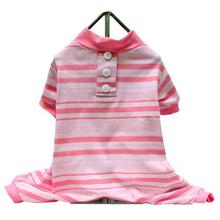 Candy Striped Dog Pajamas - Pink