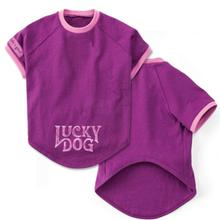 Canine Crusher Lucky Dog T-Shirt - Perfect Plum