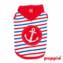 Capitane Hooded Dog Shirt by Puppia - Red