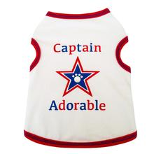 Captain Adorable Dog Tank - White