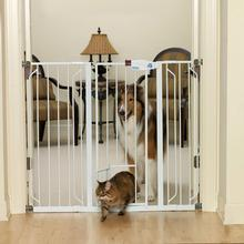 Carlson Extra Tall Walk-Thru Dog Gate with Pet Door