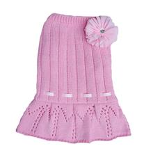Cassidy Dog Sweater Dress - Pink