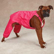 Casual Canine Nylon Dog Snow Bib - Raspberry