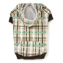 Rad Plaid Dog Hoodie - Chocolate Brown