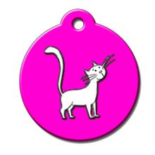 Cat QR Code Pet ID Tag by BarkCode - Pink