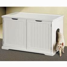 Cat Washroom Bench - White