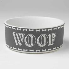 Chalk It Up Woof Dog Bowl