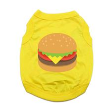 Cheeseburger Emoji Dog Shirt - Yellow