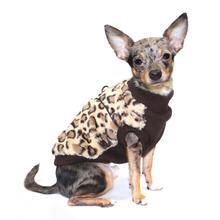 Cheetah Mink Vest by Hip Doggie - Brown